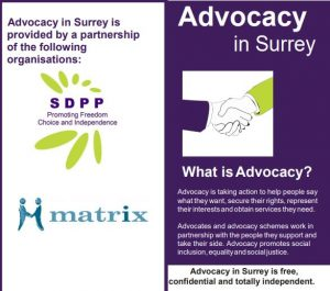 advocacy in surrey leaflet